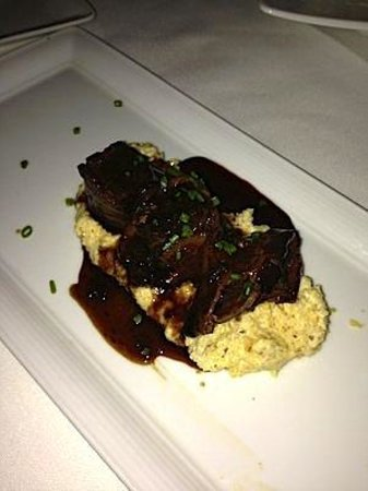 Crossings - Braised Short Rib of Beef - bacon, toasted polenta by Executive Chef Lalo Sanchez