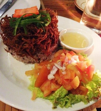 Cafe by the Ruins: Beef tapa flakes with mountain rice