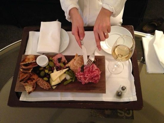 Waldorf Astoria Chicago: Charcuterie Spread from Rooom Service...Delicious!