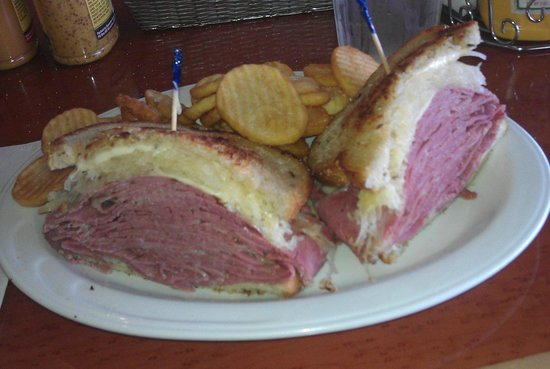 Sherman's Deli & Bakery: Grilled Reuben sandwich with fries