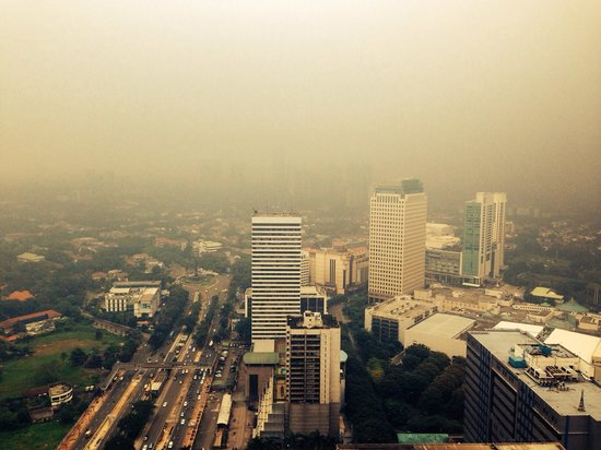 HARRIS Suites FX Sudirman: The morning view from 47th floor