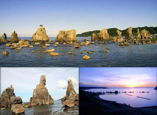 Hashigui Rock: 橋杭岩