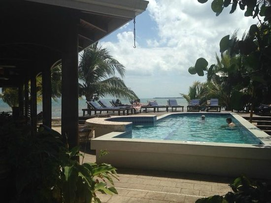 Maya Beach Hotel: Not a huge pool but the Sea is even closer!