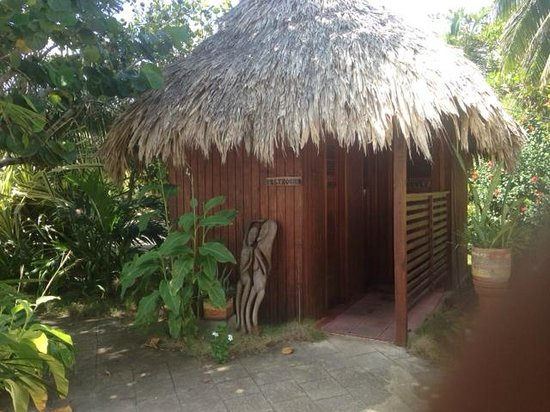 Maya Beach Hotel: Bathroom hut near pool