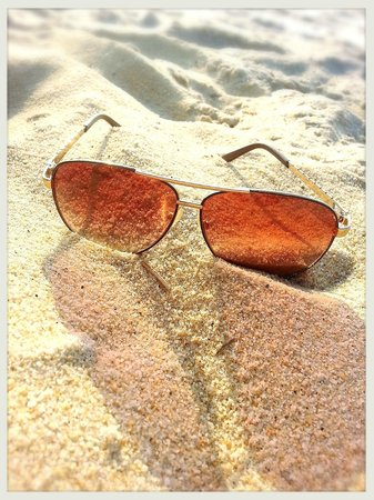 Tengah Beach: Don't forget your shades...