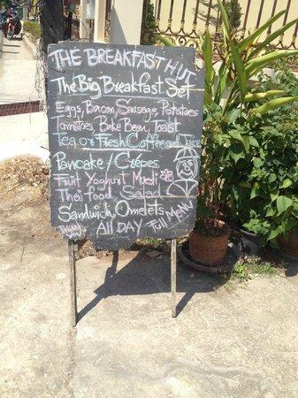 The Breakfast Hut: Special menu =)