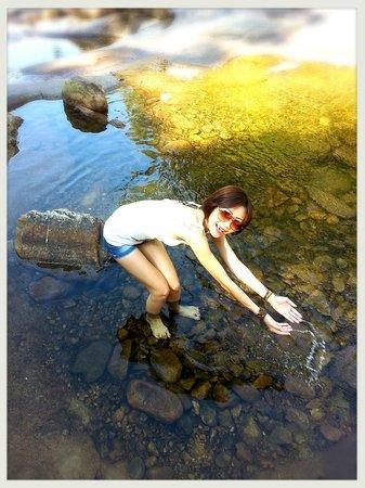 Telaga Tujuh Waterfalls: Crystal clear water