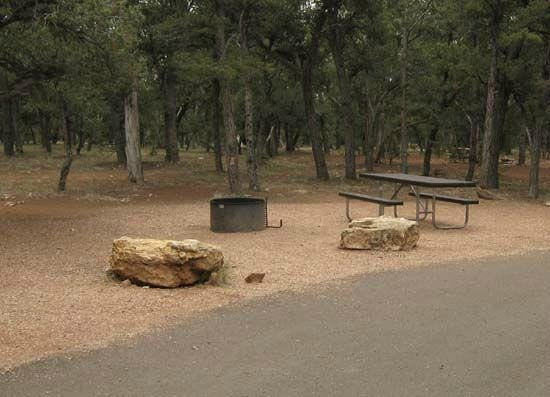 Mather Campground: les emplacements