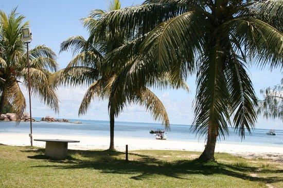 Berjaya Praslin Resort - Seychelles: plage de l'hôtel