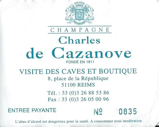 Champagne Charles de Cazanove: Charles de Cazanove tour ticket