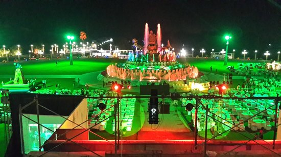 Ramoji Film City Hotel Sitara: Garden area ... for dinner & Dj