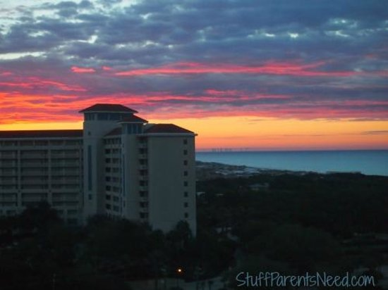 Sandestin Golf and Beach Resort: view from condo on 10th floor, Luau tower 1