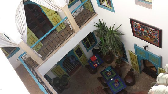 Riad Les Lauriers Blancs: from the roof terrace
