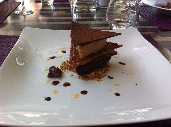 Auberge du Cellier: Dessert au chocolat .