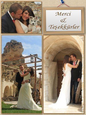 Queens Cave Cappadocia : Wedding pictures for our thank you cards