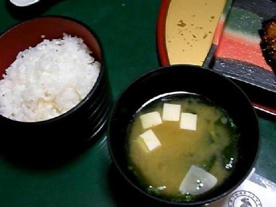 Ryokan Igaya: 伊賀屋、白ご飯で朝ご飯。 おかゆか白ご飯か選べます。