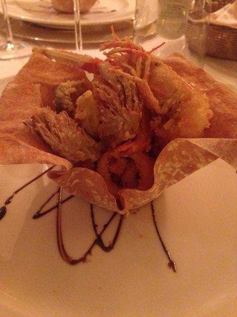 Ristorante Belle Parti: Il gran fritto di mare.