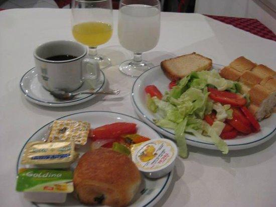 Carlton Hotel Tunis : 朝食メニュー