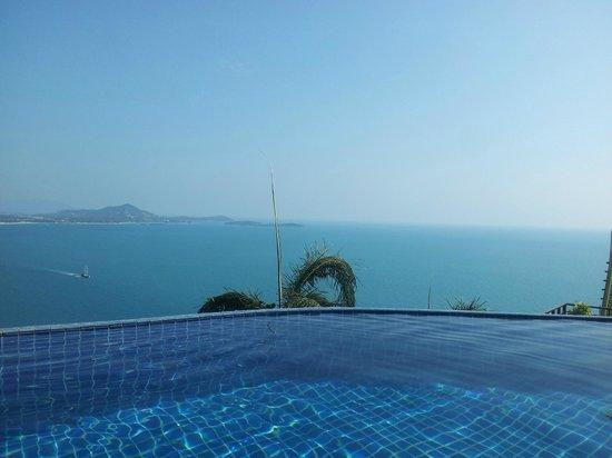 Sandalwood Luxury Villas: Vue de la piscine