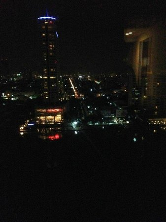 Royal Orchid Sheraton Hotel & Towers: Room view at night