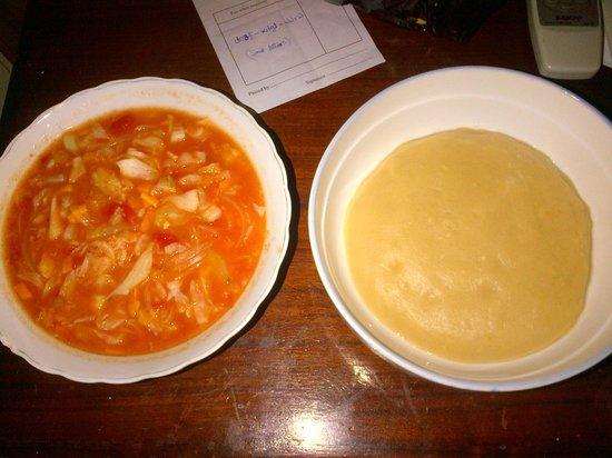 Gye Nyame Hotel: Great local food