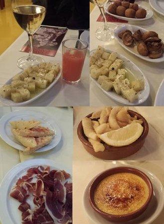 El Tablao de Carmen : タパスの料理