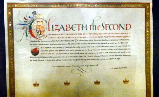 St. Asaph Cathedral: Royal Charter
