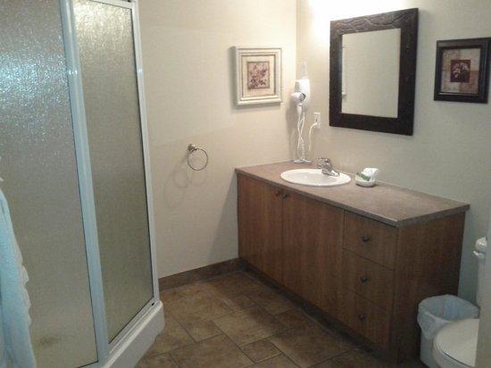 Auberge du Lac Morency: bathroom in the 1 bedroom