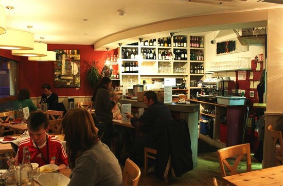 Corks Cafe & Wine Bar : Inside Corks