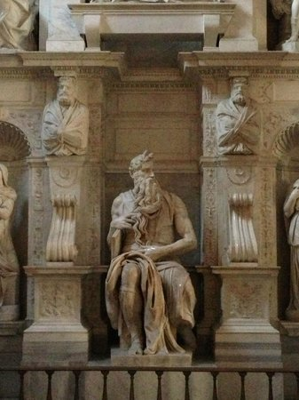 Saint-Pierre-aux-Liens (San Pietro in Vincoli) : Michaelangelo's sculpture of Moses