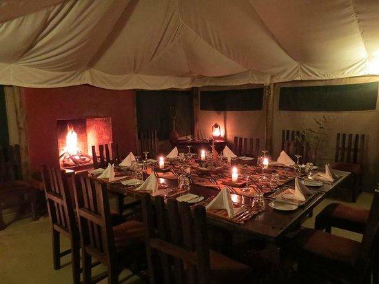 Kicheche Laikipia Camp : Mess tent