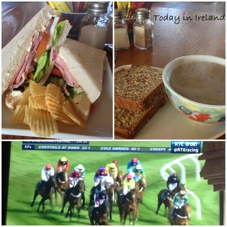 D O'Sheas Bar: Soup and sandwich and Cheltenham races!!