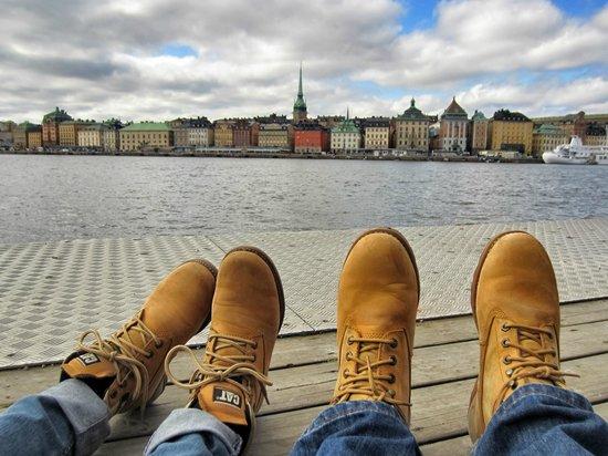 Skeppsholmen: Вид на старый город