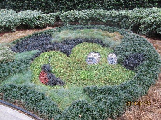 Disneyland Hotel: ミッキー花壇