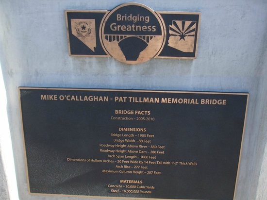 The Plaque On The Bridge Over Hoover Dam Picture Of Hoover Dam Bypass Las Vegas Tripadvisor