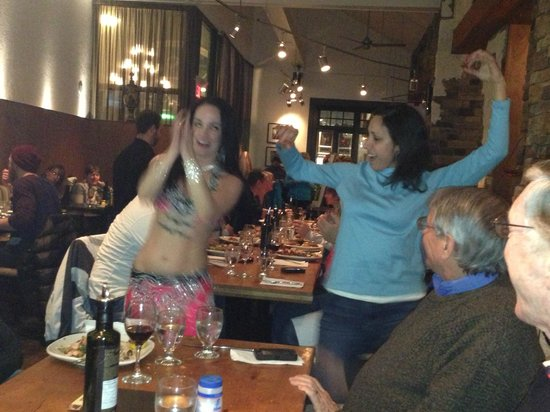 Balkan Restaurant: A belly-dancer entertains you with her beauty and skill