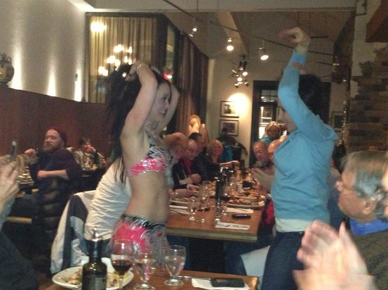 Balkan Restaurant: She engages and teaches! What fun!