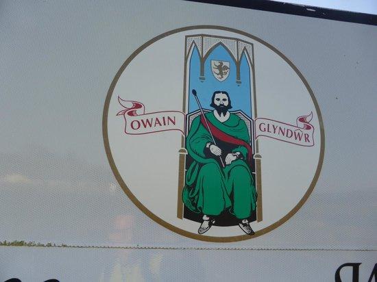Glyndwr's Way: Owain Glyndwr on the Welcome to Machynlleth roadsign