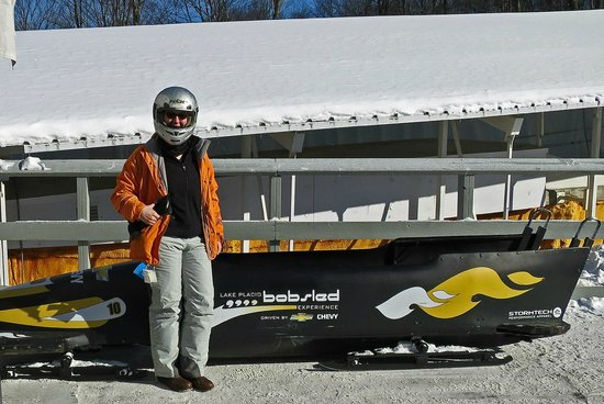 Bobsled and Luge Complex : Picture with the sled