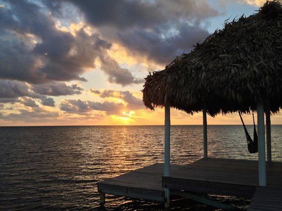 Hol Chan Reef Resort Villas : View from the palapa