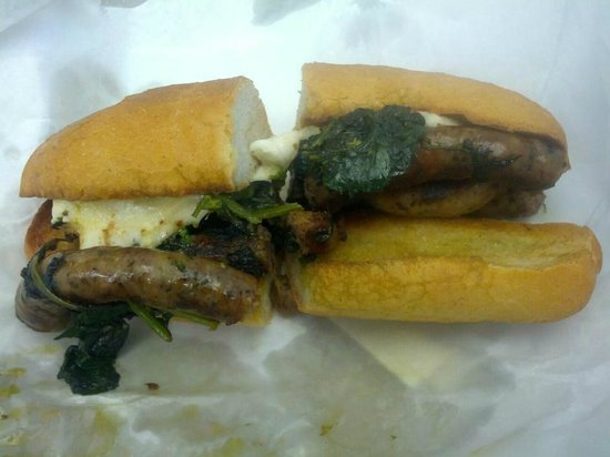 Mozzarella Fella: Pinwheel Sausage,Broccoli Rabe & fresh Mozzarella