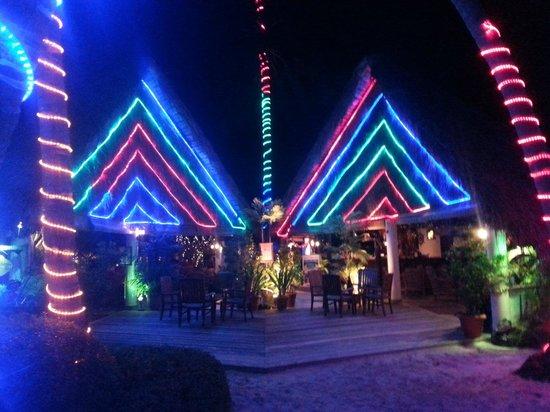 Fihalhohi Island Resort: Beleuchtung zu Weihnacht