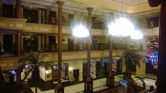 Southern Sun Gold Reef City Hotel: From the first floor balcony, overlooking the lobby, 1st and second floors