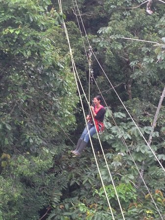 Amazonia Expeditions' Tahuayo Lodge: My guide Nataly on the canopy zipline
