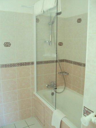Hotel La Chartreuse : Detall de l baño de habitación doble estándar.