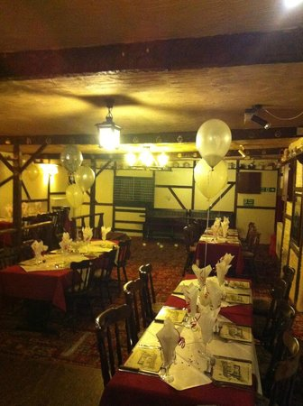 Ye olde globe: Function Room set up for an engagement party