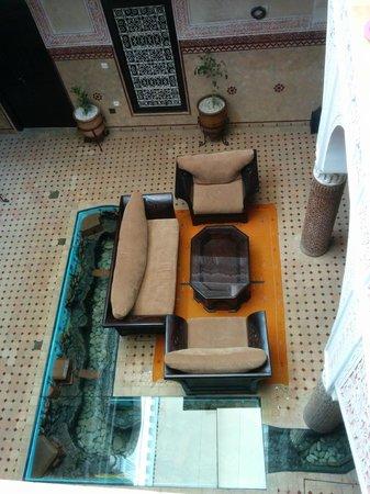 Riad - Hotel Marraplace : patio interior hotel