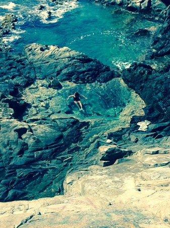 Divi Aruba All Inclusive: Visiting the natural pool