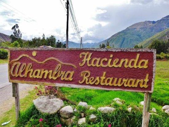 Alhambra Hacienda Restaurant: Road signage