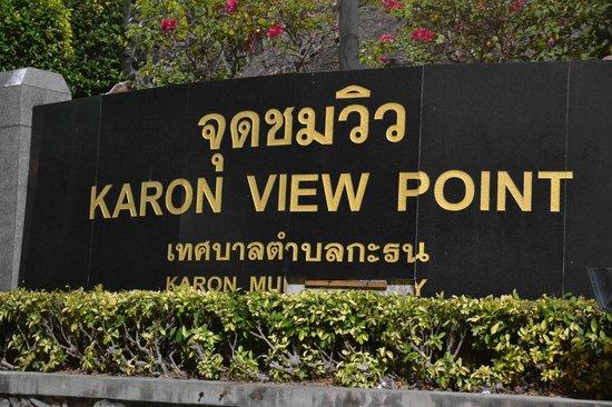 Karon View Point: sign